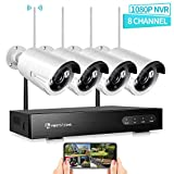HeimVision Wireless Security Camera System Outdoor, 8CH 1080P NVR 4Pcs 960P 1.3MP Outdoor/ Indoor WiFi Surveillance Cameras with IR Night Vision, Weatherproof, Motion Detection, Easy Remote Monitoring