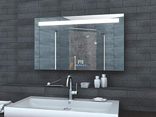 Beleuchtung Badspiegel | Led Beleuchtung Badspiegel Badezimmerspiegel Lichtspiegel Uhr Radio