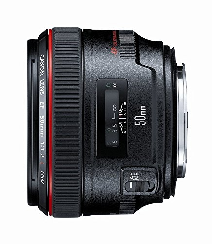 Canon EF 50mm f/1.2 L USM Lens for Canon Digital SLR Cameras – Fixed (Renewed)