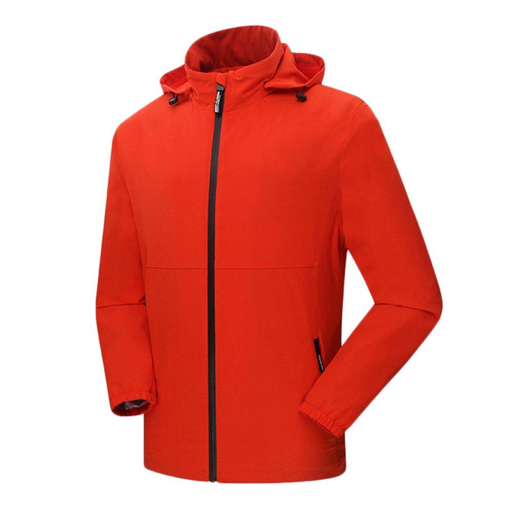 Zhhlinyuan Mens Outdoor Sportswear Light Windproof Waterproof Hooded Jacket
