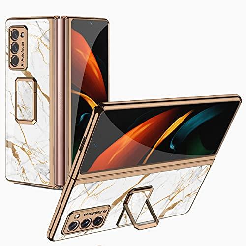 Funda Njj Para Samsung Galaxy Z Fold 2 Diseño Vidrio blanco