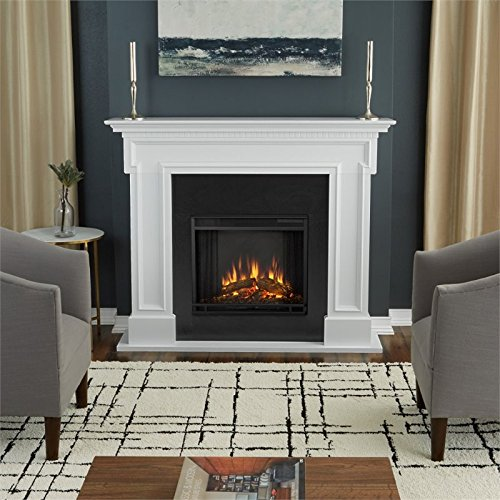 (Real Flame 5010E-W Thayer Electric Fireplace in White,)