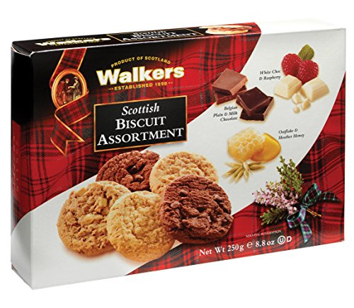 Walkers Shortbread Scottish Cookie Assortment, 8.8 Ounce (Pack of 3), Flavors Include Chocolate Chunk, White Chocolate Raspberry, Oat & Heather Honey, Quality Ingredients, No Artificial Flavors - Chocolate Raspberry Recipe