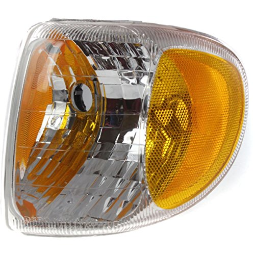 (DAT 98-01 MERCURY MOUNTAINEER FRONT PARKING SIGNAL LIGHT CORNER LAMP LENS AND HOUSING IN THE FENDER LEFT DRIVER SIDE FO2520160)