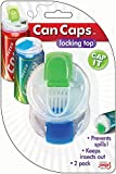 : Soda Can Covers 1 Pack (4 pieces) for Carbonated Water or Soft Drink - Best Beer Cans Cover Easy Clip on Caps Lid Seal Opening for a Fresher Drinking Experience BPA Free