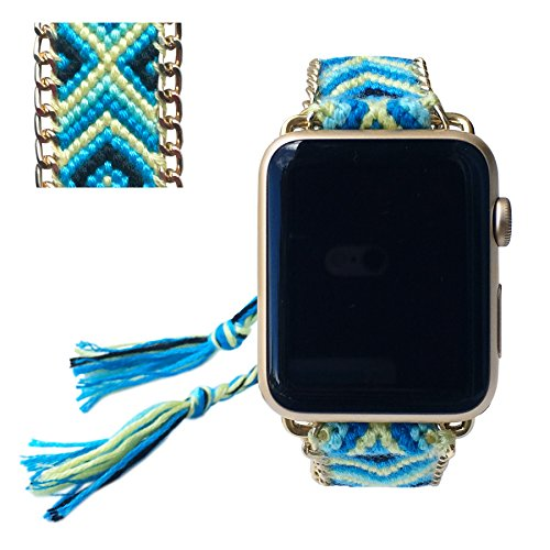 Apple Watch Band 42MM, Fashion Handmade Friendship Bracelet Replacement iWatch Strap Women Girls for Apple Watch Series 2 Series 1 All Version (Shades…