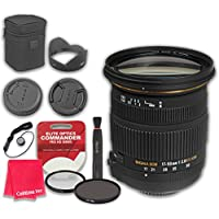 Sigma 17-50mm f/2.8 EX DC OS HSM Zoom Lens for Canon with Elite Optics Commander Pro HD Series Ultra-Violet Protector UV Filter & Circular Polarizer CPL Multi-Coated Filter - International Version