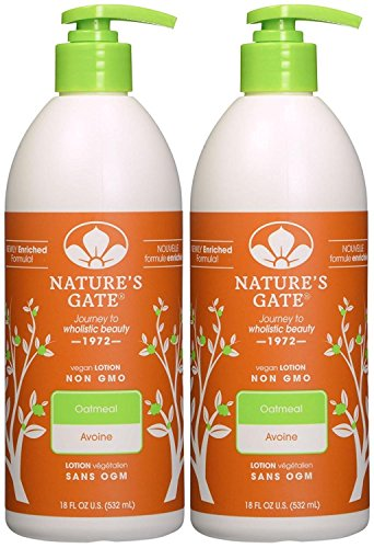 Nature's Gate Colloidal Oatmeal Moisturizing Lotion for Itchy, Dry & Sensitive Skin - 18 oz - 2 pk