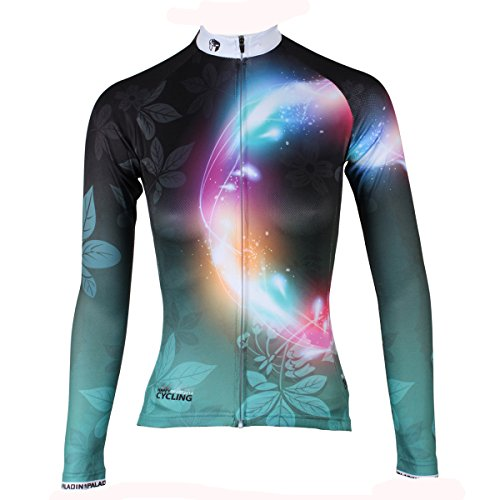 Paladin Women's Long Sleeve Special Cycling Jersey WJ0143 (Jersey Cycling Womens Sleeve Long)