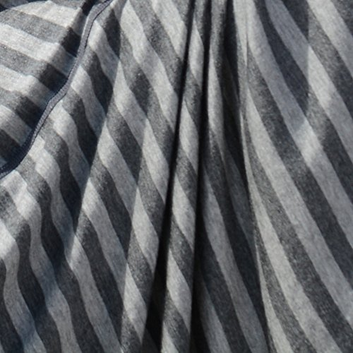 Fashionable Nursing Covers by DRIA - 'The All-In-One, Stroller Cover, Car Seat Cover' - Made in USA from Premium Four Way Stretch and Breathable Modal Fabric (Oslo Style: Grey Stripe) by DRIA Cover (Image #1)