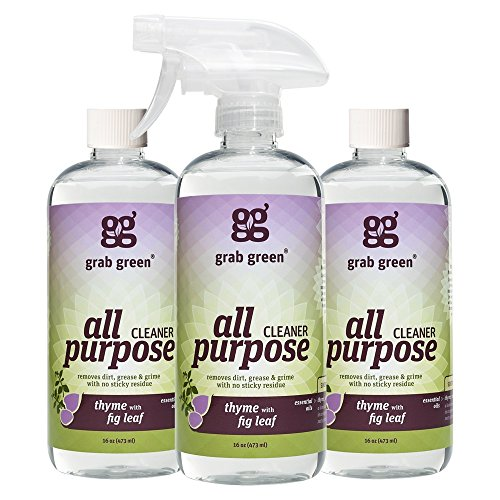 Grab Green Natural All Purpose Cleaner, Thyme with Fig Leaf, 16 Ounce, 3 - Fig And Seventh