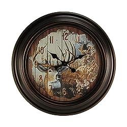 LARGE 23 Round Big Buck Deer Huge Wall Clock