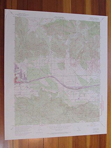 Cabazon California 1973 Original Vintage USGS Topo - Map California Cabazon