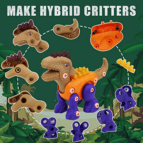 GoosWexmzl Take Apart Dinosaur Toys - Dinasor Toys for Boys and Girls , Take Apart Toys with Electric Drill Build a Dinosaur Kit for Kids Dinosaur Toys Birthday Easter Gifts Boys Girls