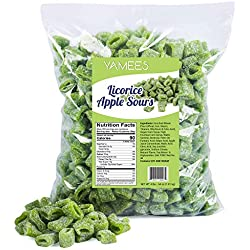 Sour Licorice - Licorice Candy - Green Apple - Sour Licorice Bites - Green Apple Licorice Sours - Bulk Candy - 4 Pounds