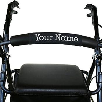 Customized Rollator Nameplate (Black) | Rolling Walker Accessory | Senior Walker Nameplate