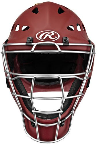 Rawlings Youth Catchers Helmet, Matte Cardinal by Rawlings