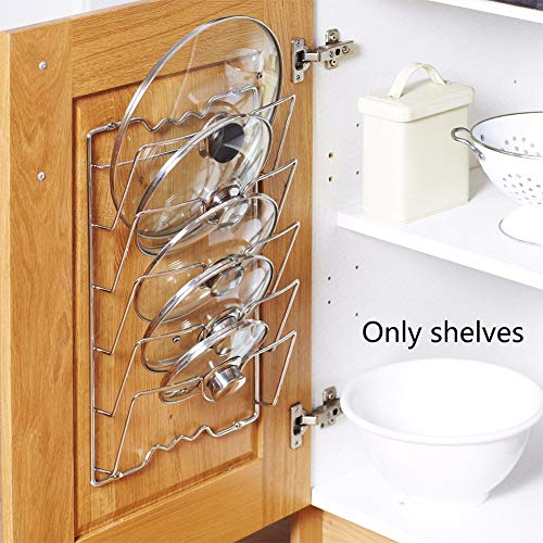 Storage Rack Easy Install Clean Tools Drying Metal Anti-fall Rustproof Durable Pan Lid Holder Pot Covers Holding Save Space Kitchen Accessories