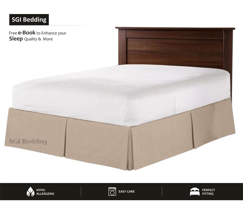 550 TCエジプト綿寝具ベッドスカート1 x 10