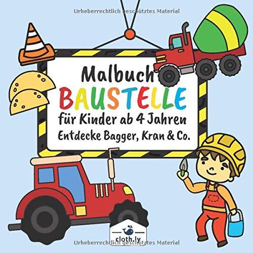 Amazon Fr Malbuch Baustelle Fur Kinder Ab 4 Jahren Entdecke