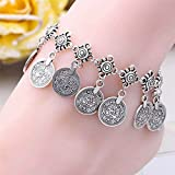 Sumanee Accessories Foot Jewelry Coin Leg Ankle Bracelet Silver Plated Coin Anklet