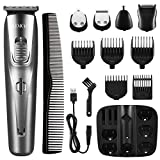 Hair Clippers for Men Professional, ATMOKO 5 in 1 Men's Grooming Kit Waterproof Beard Trimmer Rechargeable Precision Nose Ear Trimmer for best gifts for Men