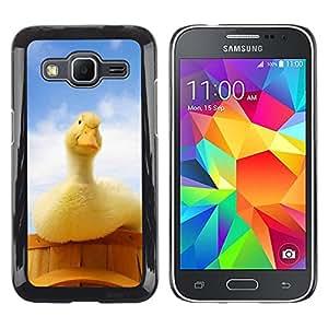 LECELL--Funda protectora / Cubierta / Piel For Samsung Galaxy Core Prime -- Pato curioso --
