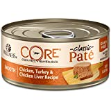 Wellness CORE Natural Canned Grain Free Wet Cat Food, Chicken & Turkey Pate, 5.5-Ounce Can (Pack of 24)