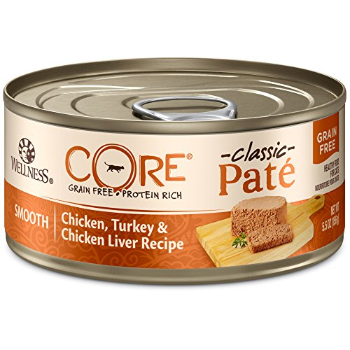 (Wellness Core Natural Grain Free Wet Canned Cat Food, Chicken & Turkey, 5.5-Ounce Can (Pack Of 24))