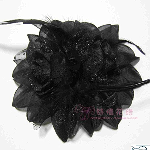 Floral 18k Brooch (18k black brooch dual-core and Arts Tiburon flower corsage dual-head flowers #)