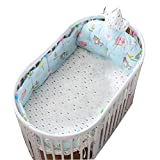 Baby Infant Crib Bumper Pads Bed Cotton Safety Rail Guard Breathable, Cradle Protector, Cot Sleep Bumper Pillow, Kids Bedding Kit, Crown Cartoon Style