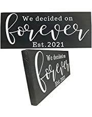 Rustic Signs for Wedding Gift, His Hers Bridal Shower Engagement Gifts for Newlyweds
