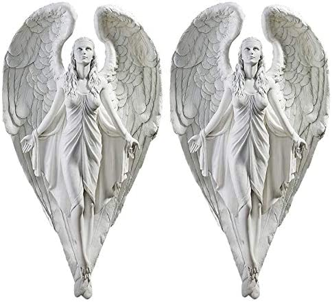 Design Toscano Spiritual Path Angel Wall Sculpture Set of 2