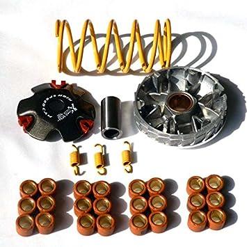 yunshuo variador 50 cc de alto rendimiento Roller primavera para Scooter Ciclomotor GY6 Qmb QMA 139: Amazon.es: Coche y moto