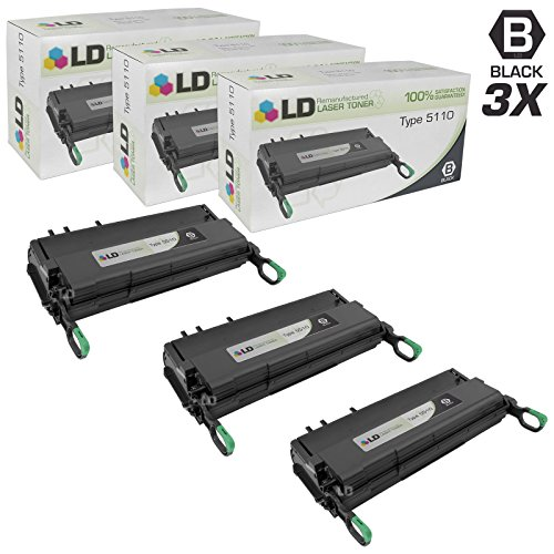 (LD Remanufactured Toner Cartridge Replacement for Ricoh 430452 Type 5110 (Black, 3-Pack))