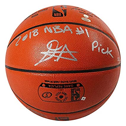 65458ca73edc DEANDRE AYTON Autographed and Inscribed quot 2018 NBA  1 Pick quot  Game  Ball Series Spalding