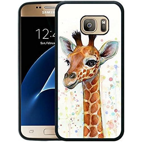 Galaxy S7 Case,S7 Case,,Giraffe Baby Case for Samsung Galaxy S7 - Black TPU Side Sales