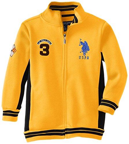 us-polo-assn-little-boys-fleece-mock-neck-jacket-with-striped-ribbing-egg-yoke-3t