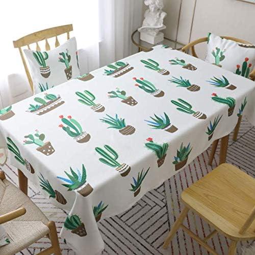 SONGHJ Algodón poliéster Planta Verde Mantel Decorativo Cactus ...