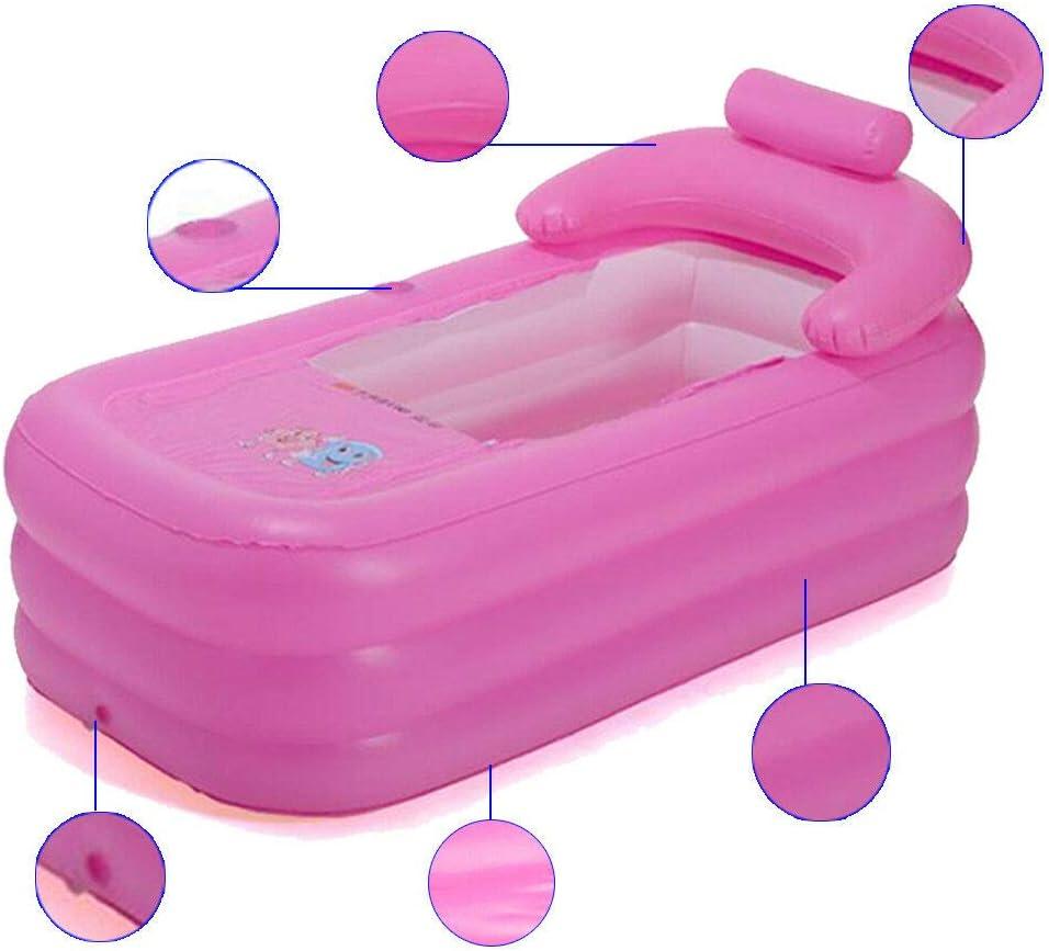 Baignoire Gonflable En Pvc Pliable Pour Adulte Baignoire Portable Pour La Maison Et Le Voyage Sans Pompe Rose Baignoires Bricolage