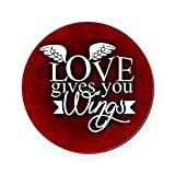 Round Coaster (Set of 4) Love Gives You Wings