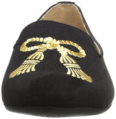 ADRIENNE Womens gold Doloris Black ADRIENNE Footwear VITTADINI VITTADINI Ballet Flat 5qHRIHw