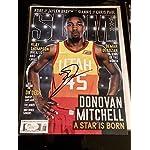 Donovan Mitchell Autograph signed SLAM Magazine Utah Jazz COA - JSA Certified.