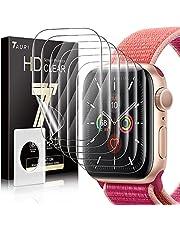 TAURI 6 Pack Screen Protector Voor Apple Watch Serie 7 45mm Bubble-vrij Eenvoudige Installatie HD Clear TPU Beschermende Film Compatibel iWatch 44mm Serie 6 5 4 SE