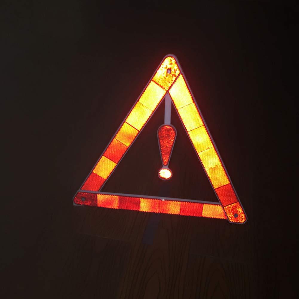 GEZICHTA Triangle d'avertissement hautement Reflectiv PVC de sécurité Portable d'urgence réfléchissant de Voiture Fournitures