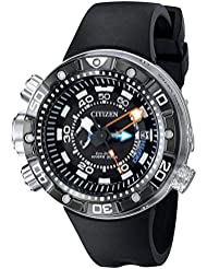 Citizen Eco-Drive Mens BN2029-01E Promaster Aqualand Depth Meter Analog Display Black Watch