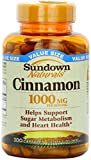 Sundown Naturals Cinnamon 1000mg Capsules, 200 ea (Pack of 9)