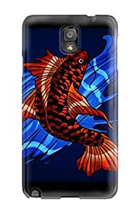 Flexible Tpu Back Case Cover For Galaxy Note 3 - Koi Fish Android