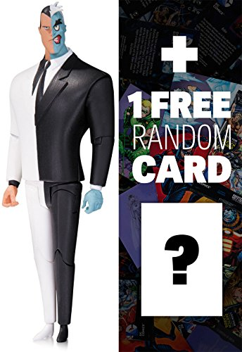 Two-Face: DC Collectibles The New Batman Adventures Series + 1 FREE Official DC Trading Card Bundle