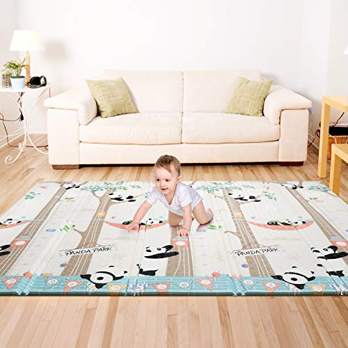 Bammax Play Mat, Folding Mat Baby Crawling Mat Kids Playmat Waterproof Non Toxic for Babies, Infants, Toddlers, 70' x 77.5' x 0.6'